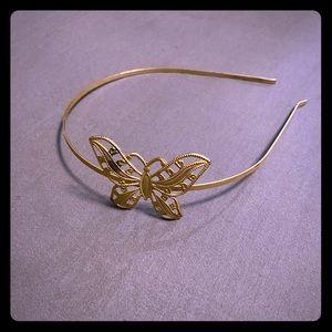 Vintage metal butterfly headband